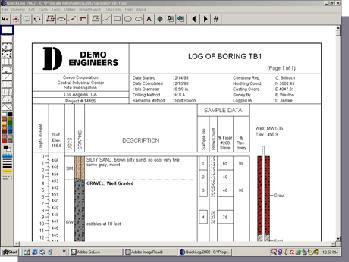 Boring Borehole Well Log Software